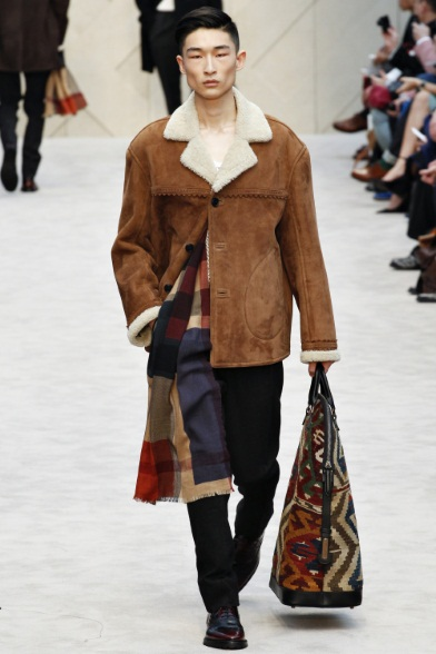 Cappotto+Maxi Bag+Stringate (Burberry Prorsum FW 2014 2015)