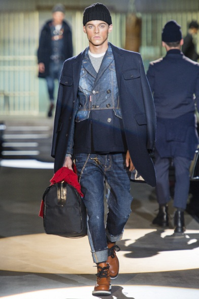 Denim+Cappello+Maxi Bag (DSquared2 FW 2014 2015)