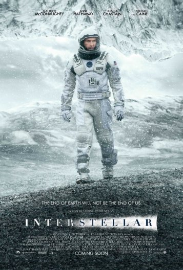 Locandina Interstellar, di Christopher Nolan
