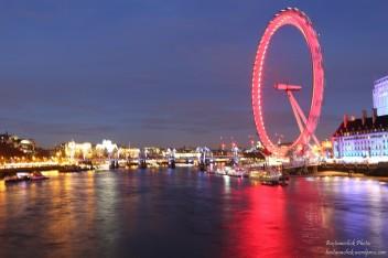 Vista della London Eye dal Westminster Bridge 2