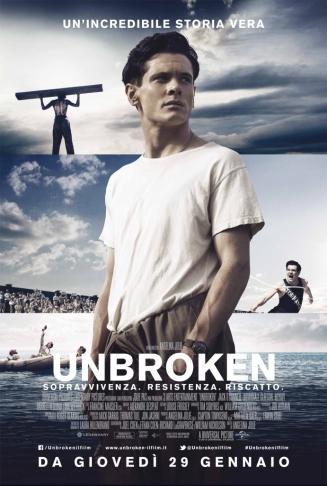 Locandina Unbroken, regia di Angelina Jolie